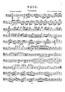 Klaviertrio Nr.3 in c-Moll, Op.101: Cellostimme by Johannes Brahms