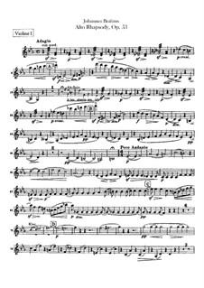 Alt-Rhapsodie, Op.53: Violinstimme by Johannes Brahms