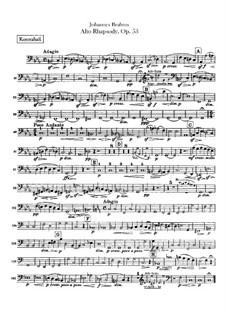 Alt-Rhapsodie, Op.53: Kontrabass-Stimme by Johannes Brahms