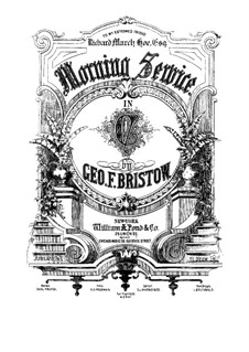 Morning Service, Op.54: No.1 Te Deum by George Frederick Bristow