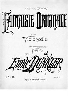 Originale Fantasie für Cello und Klavier, Op.11: Cellostimme by Emile Dunkler