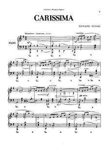 Carissima: Für Klavier by Edward Elgar