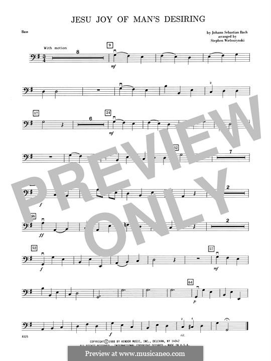 Wohl mir, dass ich Jesum habe: For bass and piano – Bass part by Johann Sebastian Bach