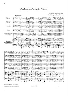Orchestersuite in G-Dur, FaWV K:G5: Orchestersuite in G-Dur by Johann Friedrich Fasch