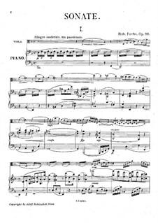 Sonate für Bratsche und Klavier, Op.86: Sonate für Bratsche und Klavier by Robert Fuchs