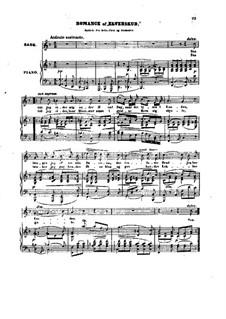 Elverskud (Erlkönigs Tochter), Op.30: Romanze, für Stimme und Klavier by Niels Wilhelm Gade