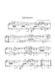 Rebus. Intermezzo in G-dur, Op.2a No.2: Rebus. Intermezzo in G-dur by Niels Wilhelm Gade