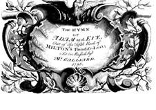 The Hymn of Adam and Eve: The Hymn of Adam and Eve by Johann Ernst Galliard