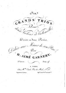 Sechs grosses Streichtrio: Violinstimme I by H. Aimé Garnery