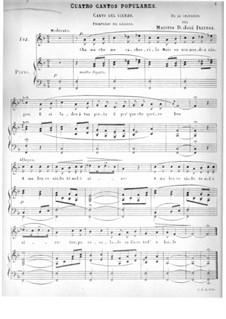 Vier populäre Lieder: Vier populäre Lieder by José Inzenga