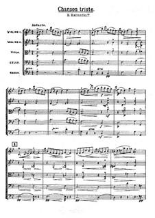 Traurig Lied: Für Streicher by Wassili Kalinnikow