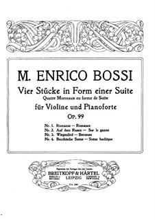 Vier Stücke in Form einer Suite für Violine und Klavier, Op.99: Partitur by Marco Enrico Bossi
