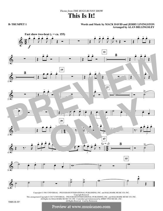 This Is It (The Bugs Bunny Show): Bb Trumpet 1 part by Jerry Livingston, Mack David