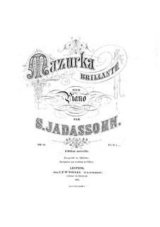 Mazurka Brillant für Klavier, Op.19: Mazurka Brillant für Klavier by Salomon Jadassohn