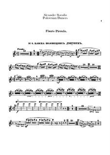 Die Polowetzer Tänze: Piccoloflötenstimmen by Alexander Porfiryevich Borodin