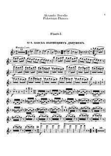 Die Polowetzer Tänze: Flötenstimme by Alexander Porfiryevich Borodin