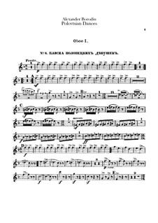 Die Polowetzer Tänze: Oboen- und Englischhornstimmen by Alexander Porfiryevich Borodin