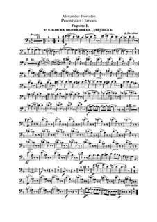 Die Polowetzer Tänze: Fagottstimme by Alexander Porfiryevich Borodin