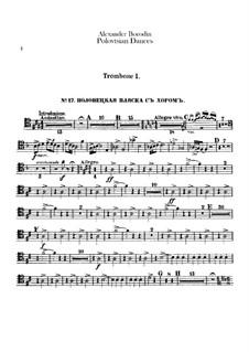 Die Polowetzer Tänze: Posaunen- und Tubastimmen by Alexander Porfiryevich Borodin