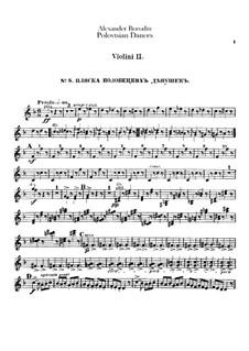 Die Polowetzer Tänze: Violinstimme II by Alexander Porfiryevich Borodin