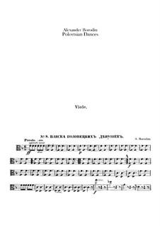 Die Polowetzer Tänze: Violastimmen by Alexander Porfiryevich Borodin