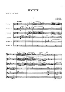 Streichsextett in d-Moll: Vollpartitur by Alexander Porfiryevich Borodin