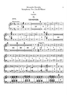 Sinfonie Nr.2 in h-Moll: Harfestimme by Alexander Porfiryevich Borodin