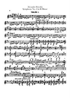 Sinfonie Nr.2 in h-Moll: Violinstimme I by Alexander Porfiryevich Borodin