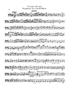 Sinfonie Nr.2 in h-Moll: Kontrabassstimme by Alexander Porfiryevich Borodin