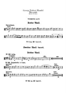 Vollständiger Oratorium: Posaunestimmen by Georg Friedrich Händel