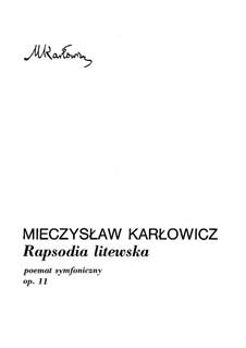 Rapsodia litewska, Op.11: Rapsodia litewska by Mieczysław Karłowicz