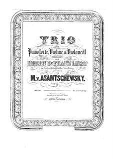Klaviertrio in fis-moll, Op.10: Klaviertrio in fis-moll by Mikhail Pavlovich Azanchevsky