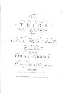 Drei Streichtrios, Op.5: Nr.1 – Violinstimme by Alexandre Pierre François Boëly