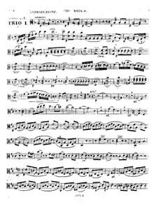 Drei Streichtrios, Op.5: Nr.1 – Bratschenstimme by Alexandre Pierre François Boëly