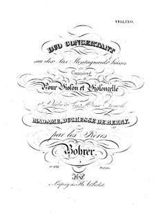 Konzertduo für Violine und Cello: Violinstimme by Antoine Bohrer