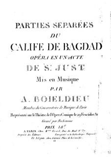 Der Kalif von Bagdad: Kontrabass-Stimme by Adrien Boieldieu