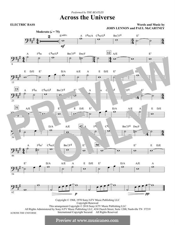 Across the Universe (The Beatles): Bassstimme by John Lennon, Paul McCartney