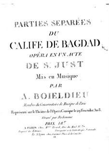 Der Kalif von Bagdad: Klarinettenstimme I by Adrien Boieldieu