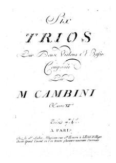 Sechs Streichtrios, Op.15: Sechs Streichtrios by Giuseppe Maria Cambini