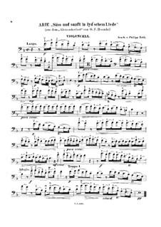 Alexander's Fest oder die Macht der Tonkunst, HWV 75: Süss und sanft in lyd'schem Liede, für Cello und Klavier – Cellostimme by Georg Friedrich Händel