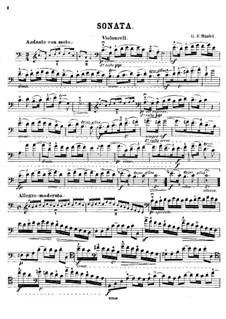 Sonate für Viola da Gamba und Cembalo in C-Dur: Version für Cello und Klavier – Cellostimme by Georg Friedrich Händel