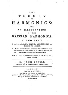 The Theory of Harmonics: Teil I by John Keeble