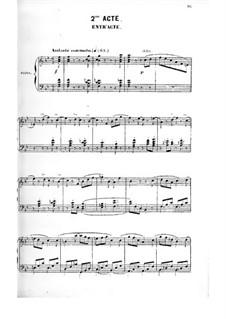 Le premier jour de bonheur: Akt II, Klavierauszug mit Singstimmen by Daniel Auber