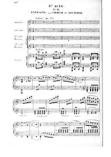 Le premier jour de bonheur: Akt III, Klavierauszug mit Singstimmen by Daniel Auber