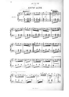 Die Puppe: Akt III. Bearbeitung für Stimmen und Klavier by Edmond Audran