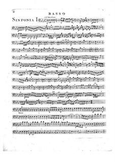 Sinfonie Nr.2 in Es-Dur, G.504 Op.12: Kontrabass-Stimme by Luigi Boccherini
