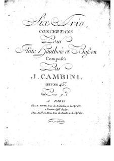 Sechs Konzerttrios für Flöte, Oboe und Fagott, Op.45: Oboen- oder Flötenstimme by Giuseppe Maria Cambini