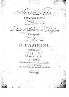 Sechs Konzerttrios für Flöte, Oboe und Fagott, Op.45: Fagottstimme by Giuseppe Maria Cambini