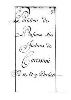 Arien: Arien by Giacomo Carissimi