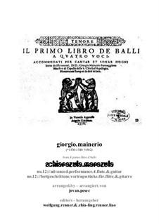 Schiarazula Marazula: Für Flöte und Gitarre by Giorgio Mainerio